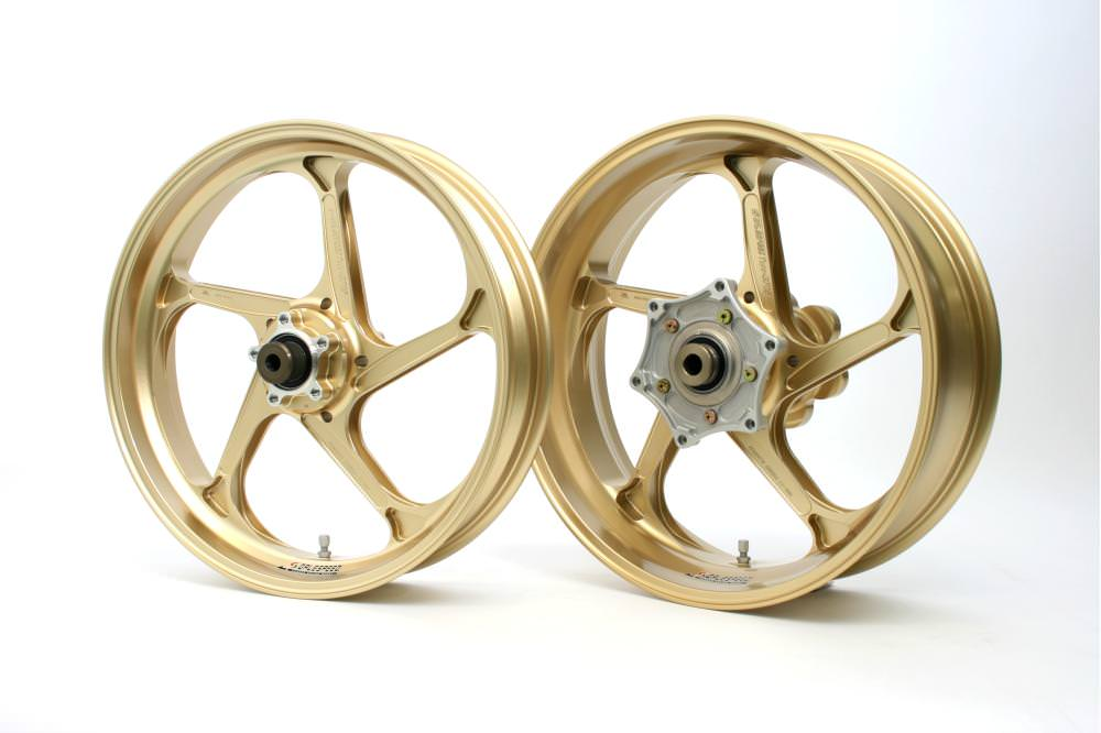 MT-09 17~18年(ABS) アルミニウム鍛造ホイール TYPE-GP1S Gコート仕様 フロント用 350-17 ゴールド ガラスコーティング仕様 GALE SPEED(ゲイルスピード)