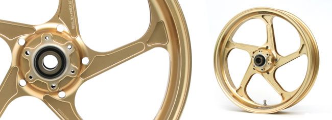 マグネシウム鍛造ホイール (TYPE-GP1SM) リア用 600-17 ゴールド GALE SPEED(ゲイルスピード) CBR1000RR(ABS)17年