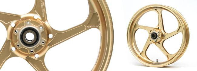 マグネシウム鍛造ホイール (TYPE-GP1SM Gコート) フロント用 3.50-17 ゴールド GALE SPEED(ゲイルスピード) YZF-R6/(ABS)17年