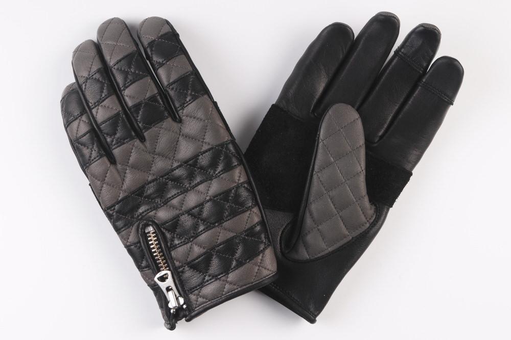 XSサイズ カウハイド・グローブ〈ダイヤステッチ) チャコールグレー/ブラック GMG-09