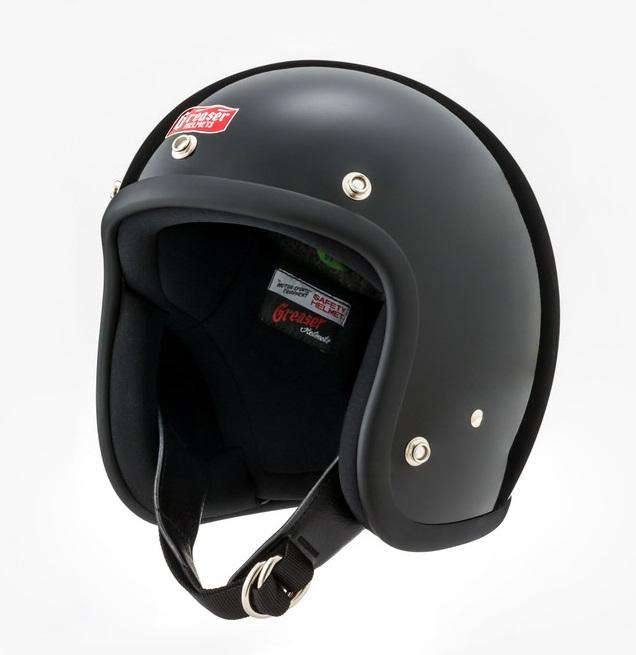 GREASER 60's PLAIN ジェットヘルメット ブラック L(59cm~60cm) GREASER(グリーサー)