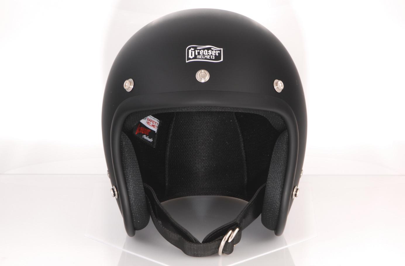 GREASER 60's PLAIN ジェットヘルメット マットブラック S(55cm~56cm) GREASER(グリーサー)