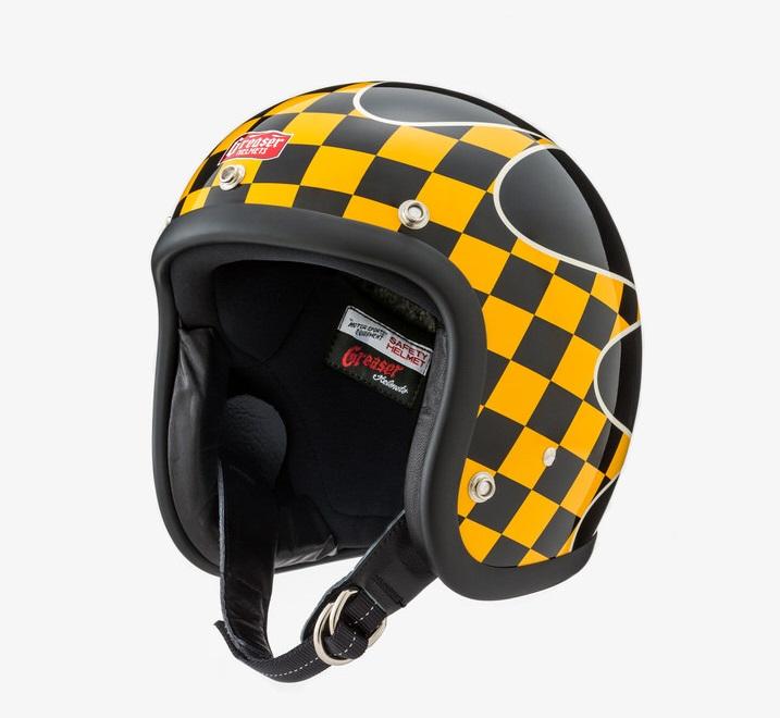 GREASER CHECKER ジェットヘルメット ブラック S(55cm~56cm) GREASER(グリーサー)