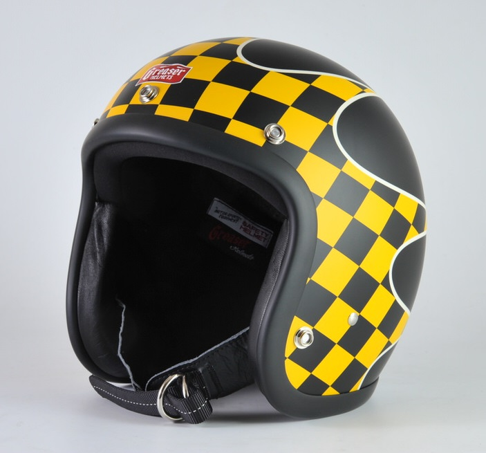 GREASER CHECKER ジェットヘルメット マットブラック S(55cm~56cm) GREASER(グリーサー)