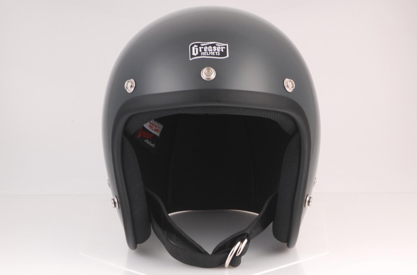 GREASER 60's PLAIN ジェットヘルメット ガンシップグレー S(55cm~56cm) GREASER(グリーサー)