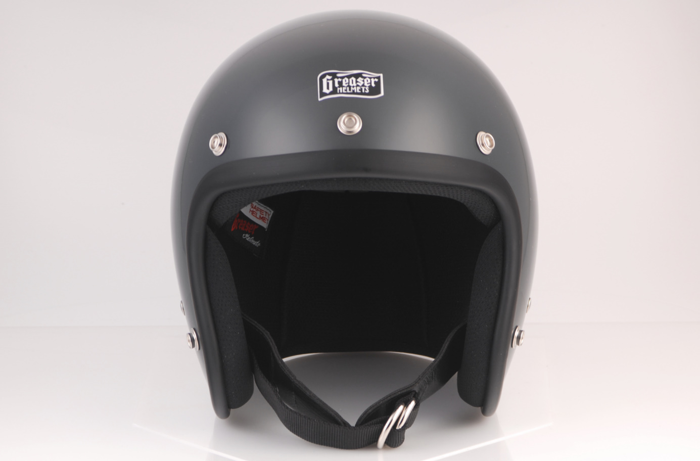 GREASER 60's PLAIN ジェットヘルメット ガンシップグレー M(57cm~58cm) GREASER(グリーサー)