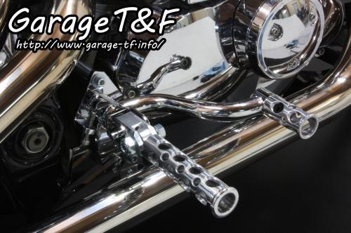 ミッドコントロールキット(メッキ) コンバット(ポリッシュ) ガレージT&F ドラッグスター400/クラシック