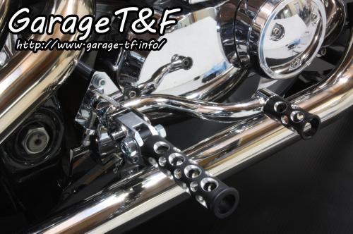 ミッドコントロールキット(メッキ) コンバット(ブラック) ガレージT&F ドラッグスター400/クラシック