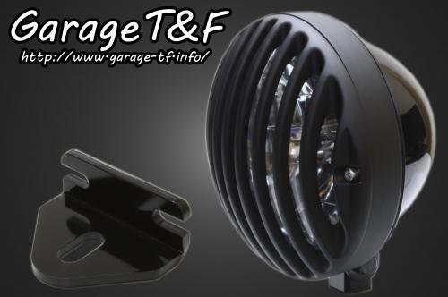 5.75インチバードゲージヘッドライト(ブラック/ブラック)&ライトステー(タイプE)キット ガレージT&F 250TR
