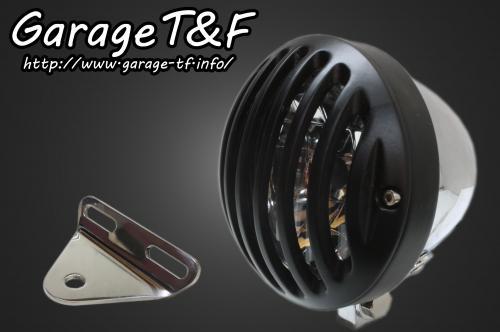ドラッグスター1100(スタンダード) 4.5インチバードゲージヘッドライト(メッキ/ブラック)&ライトステー(タイプA)キット ガレージT&F