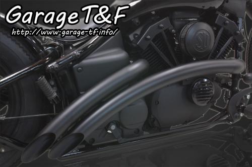 ドラッグスター400/クラシック(キャブ仕様) ガレージT&F ベントマフラー(ブラック)タイプ1