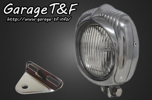 エレクトロライン54レプリカヘッドライト(ポリッシュ)&ライトステー(タイプA)KIT ガレージT&F ドラッグスター1100(スタンダード)