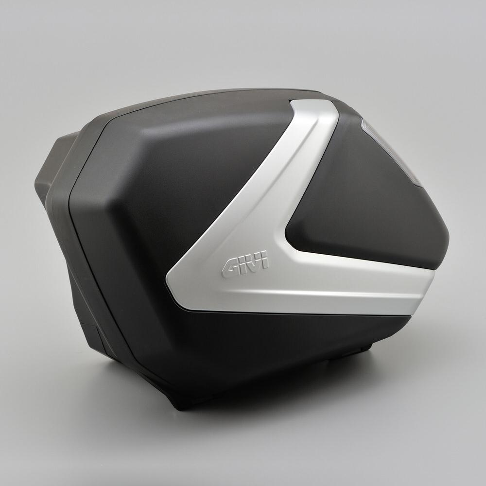 V37NT サイドケース 未塗装ブラック TECHスモークレンズ GIVI(ジビ)