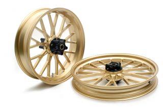 アルミ鍛造ホイール(S18) フロント用 250-19 ゴールド GLIDE(グライド) XL1200CX スポーツスター ロードスター(ABS)17年