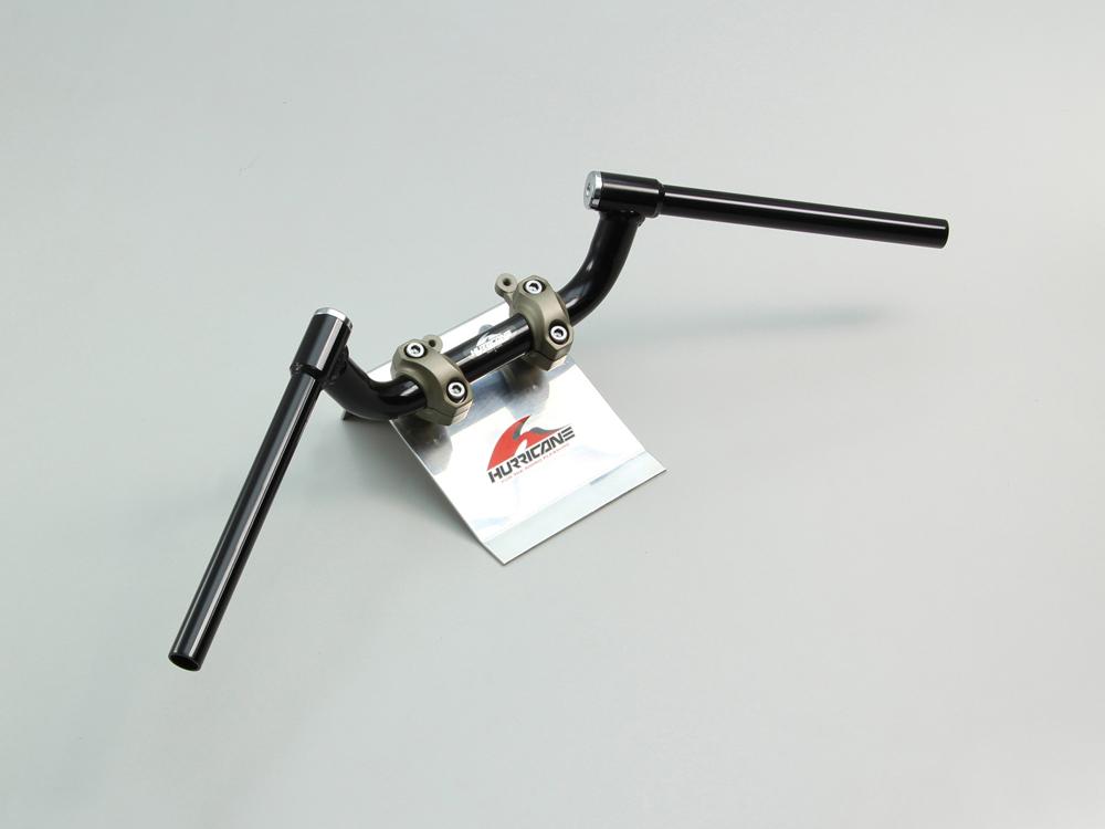 MT-09 FATコンドル 専用ハンドル ブラック(スイッチ穴加工済) HURRICANE(ハリケーン)
