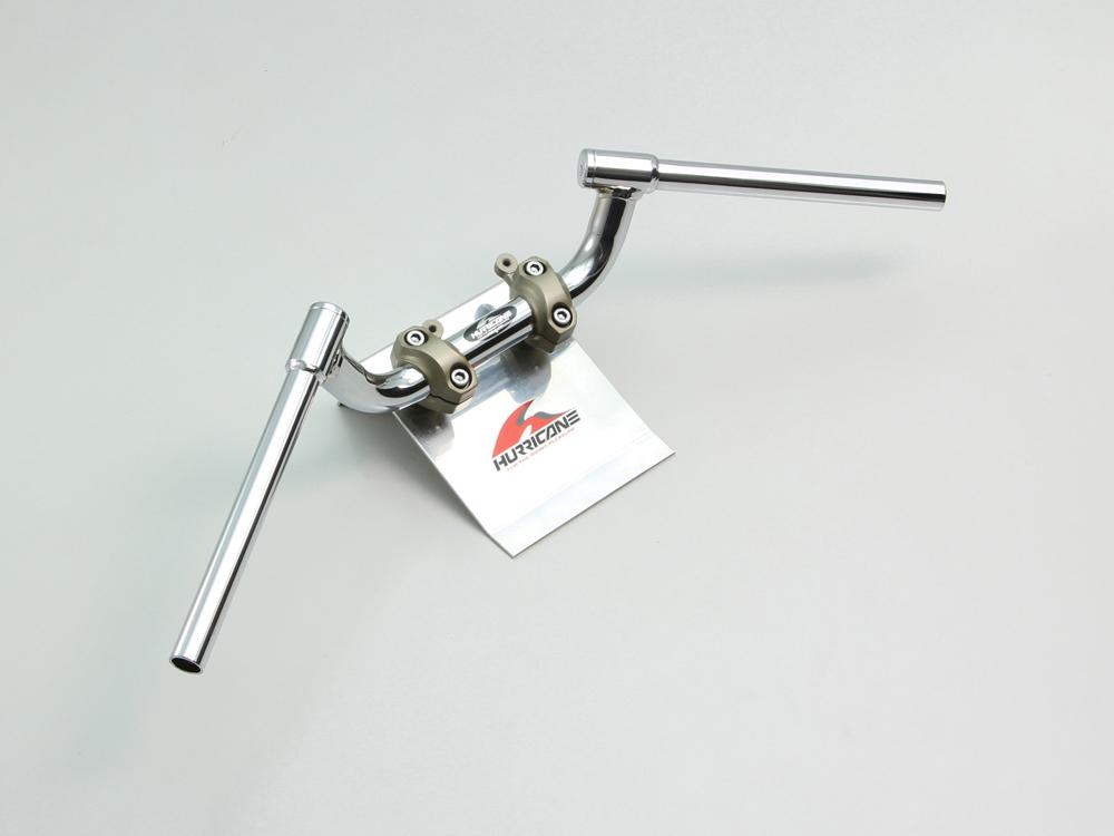 MT-09 FATコンドル 専用ハンドル クロームメッキ(スイッチ穴加工済) HURRICANE(ハリケーン)