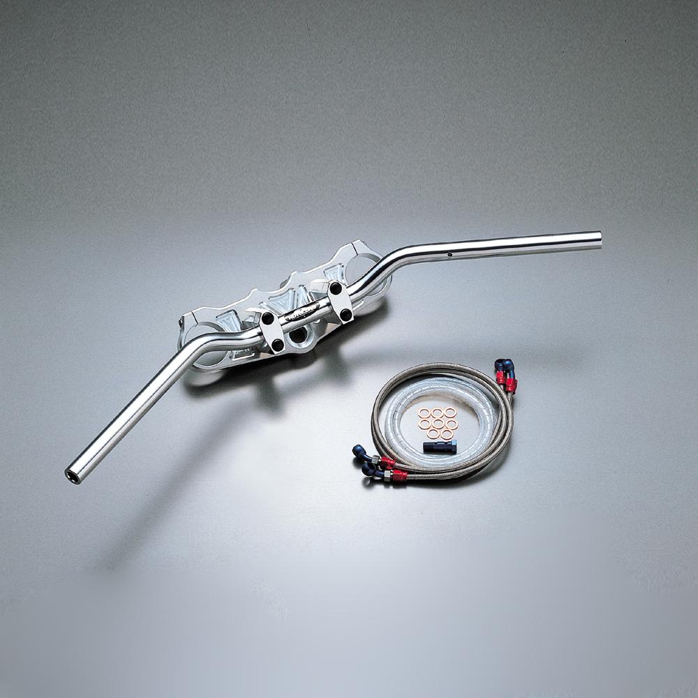 ZX-12R(~01年 A1、A2、A2A) バーハンドルキット(ジュラルミンコンチ3型ハンドル)ブレーキホース アールズ アルミ製 HURRICANE(ハリケーン)