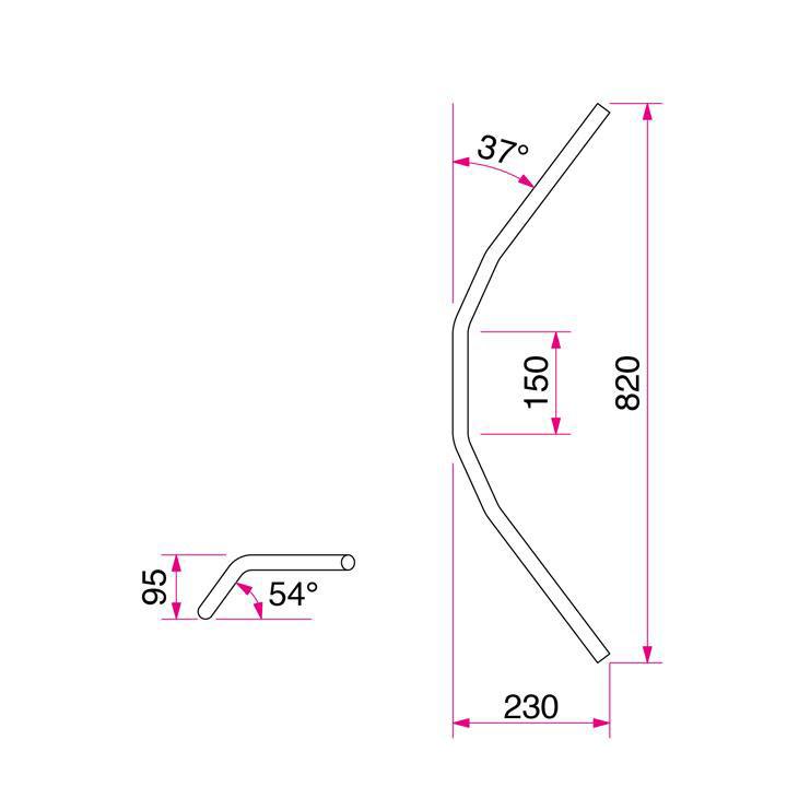 トラッカーHIGH ハンドルセット クロームメッキ HURRICANE(ハリケーン) XJR400R(98~00年)