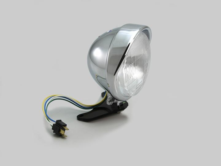 5.5ベーツバイザータイプヘッドライトキット クロームメッキ HURRICANE(ハリケーン) レブル250(Rebel250)MC49