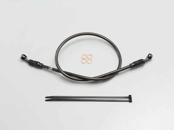 フルステンレス製 ブレーキホース ブラック Pタイプ 長さ120cm HURRICANE(ハリケーン)