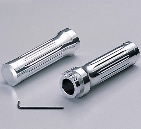 【送料無料】 エプシロン250(EPSILON) アルミグリップ Φ7/8インチ(22.2mm)ハンドル用 ビレット クロームメッキ HURRICANE(ハリケーン)