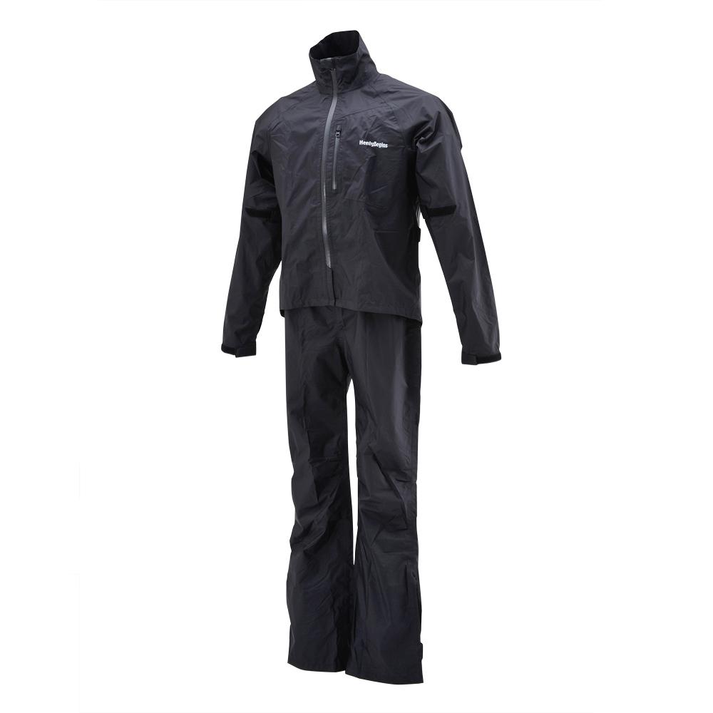 HR-001 マイクロレインスーツ ブラック Sサイズ HenlyBegins(ヘンリービギンズ)