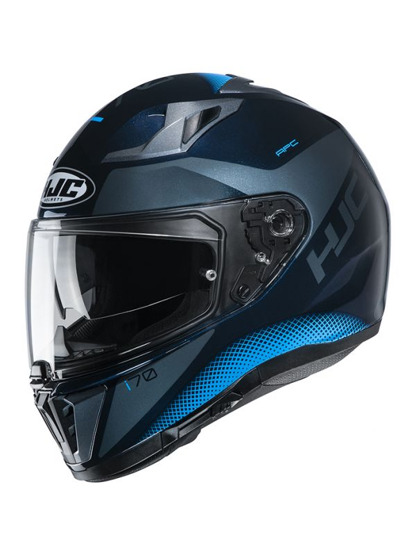 HJH193 i70 タス BLACK/BLUE XL(61~62cm未満) HJC