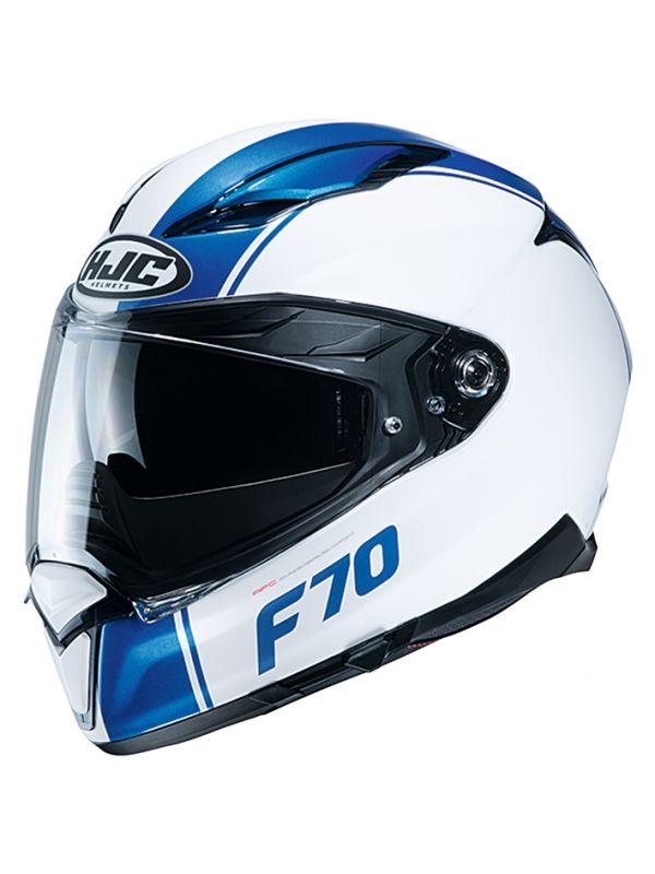 HJH194 F70 マーゴ WHITE/BLUE L(59~60cm) HJC