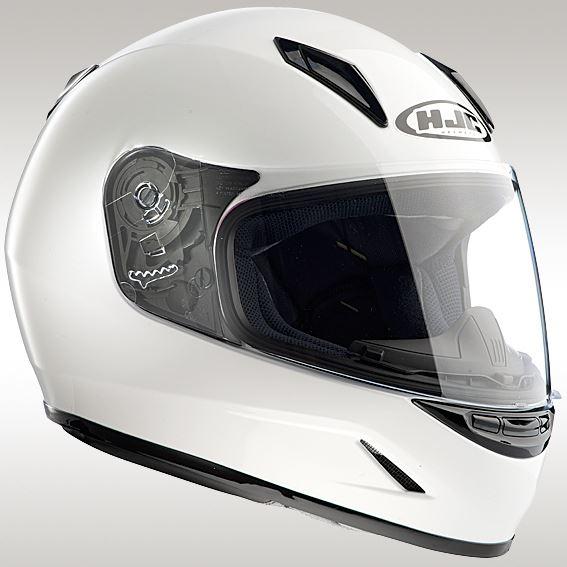 HJH057 CL-Y ソリッド ホワイト L ジュニア用ヘルメット HJC(エイチジェイシー)