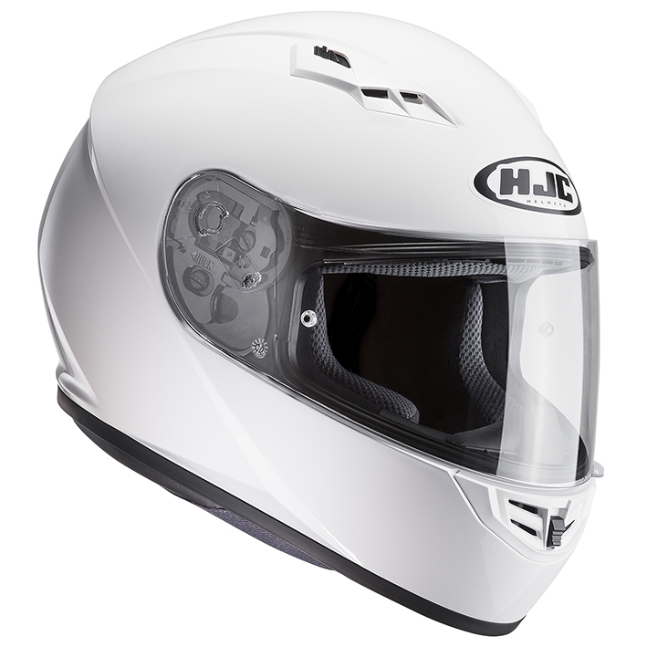 HJH113 CS-15 ソリッド フルフェイスヘルメット ホワイト M(57-58)サイズ HJC
