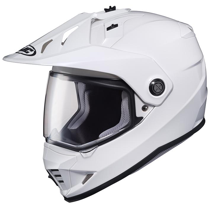 HJH133 DS-X1 ソリッド オフロードヘルメット ホワイト Lサイズ HJC