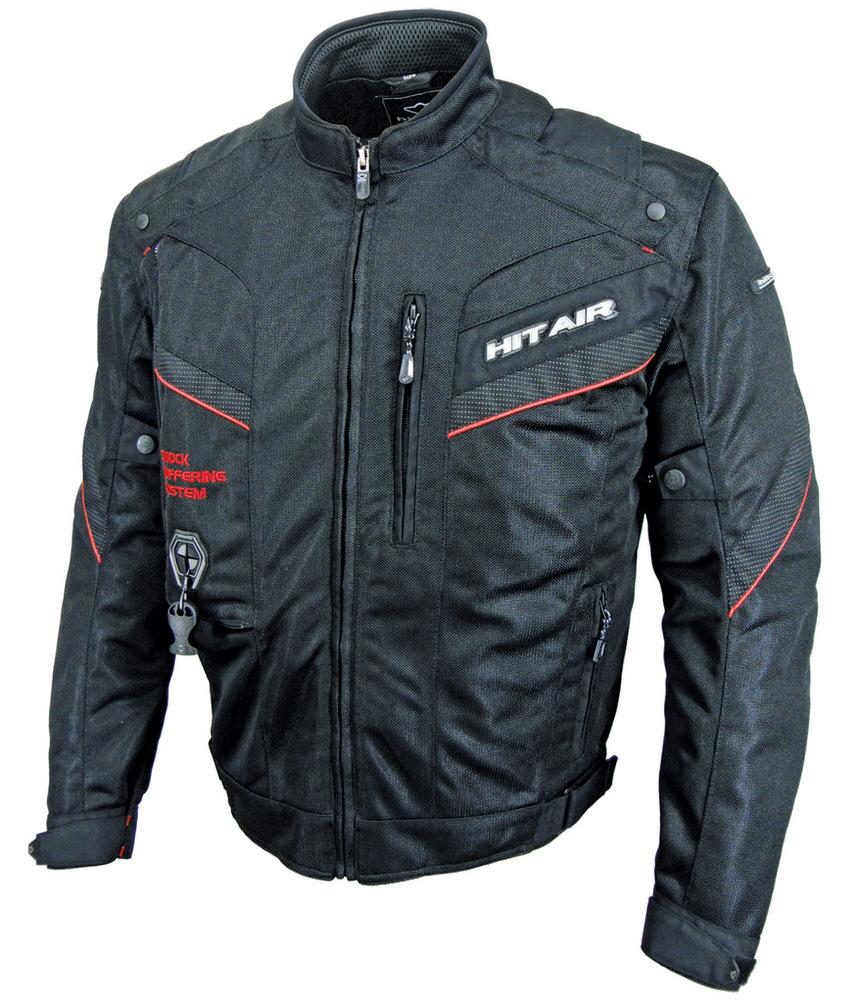 MX-7 エアバッグメッシュジャケット ブラックレッド Lサイズ hit-air(ヒットエアー)