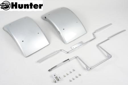 ジャイロX キャノピー(GYRO) ワイドフェンダーセット 銀 Hunter(ハンター)