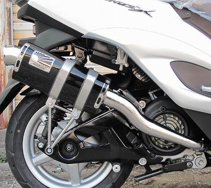 シグナスX(SE44J)国内仕様 Type666マフラー ステンレスブラック HOTLAP(ホットラップ)