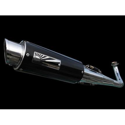スポーツマフラー(ブラック)O2センサー対応×触媒あり HOTLAP(ホットラップ) アドレスV125(ADDRESS) マフラー