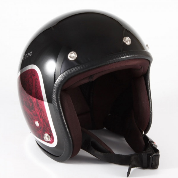 JCP-35 WEED ブラックベース/レッドラップ グロス仕上げ ジェットヘルメット 72JAM(ジャムテックジャパン)