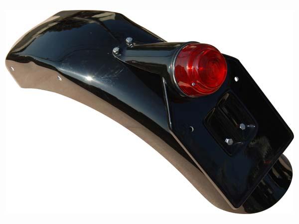 クラシック深め 丸ランプ付 リアフェンダー K&H(ケイアンドエイチ) SR400/500