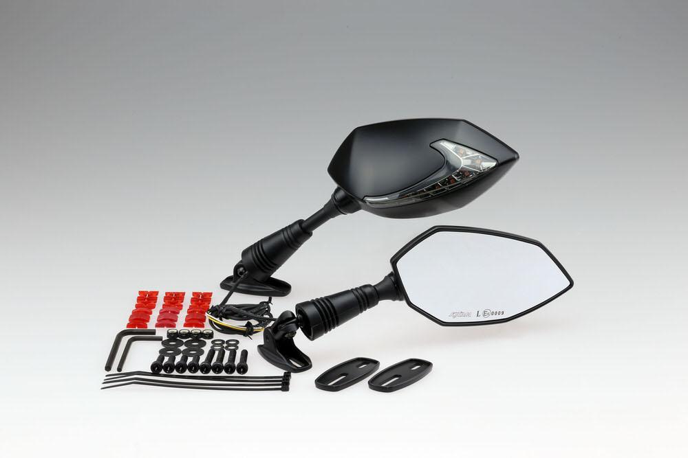 ミラー TECH06 ブラック withウインカー+ポジション 左右セット KIJIMA(キジマ)