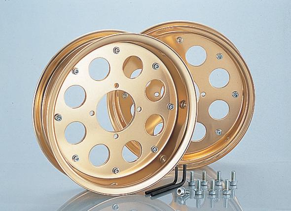 モンキー(MONKEY)/バハ/ゴリラ 10インチ アルミホイールハーフセット ゴールドアルマイト KITACO(キタコ)