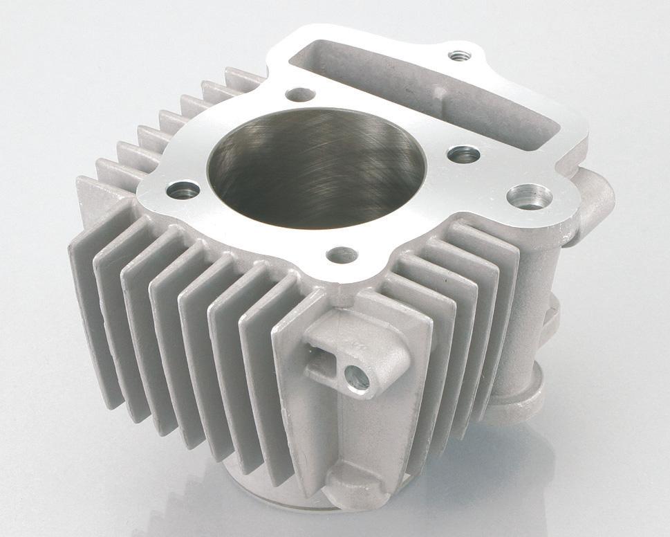 アルミ硬質メッキシリンダー 124cc用φ54 KITACO(キタコ)
