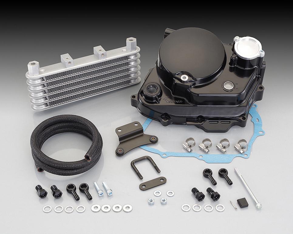 ULTRAクラッチカバー&オイルクーラーキット ブラック KITACO(キタコ) APE50(エイプ)/(FI車)、タイプD/(FI車)