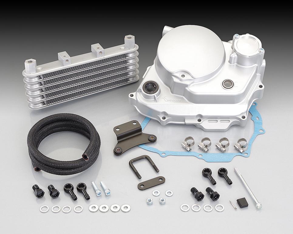 ULTRAクラッチカバー&オイルクーラーキット シルバー KITACO(キタコ) APE50(エイプ)/(FI車)、タイプD/(FI車)