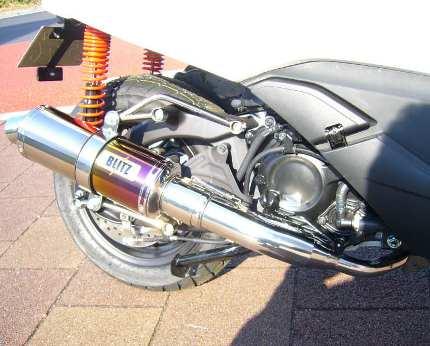 フォルツァSi MF12(FORZA) BLITZ マフラーS チタングラデーション JMCA認定 コタニモータース(KOTANI MOTORS)