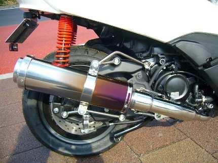 フォルツァSi MF12(FORZA) BLITZ マフラー チタングラデーション JMCA認定 コタニモータース(KOTANI MOTORS)