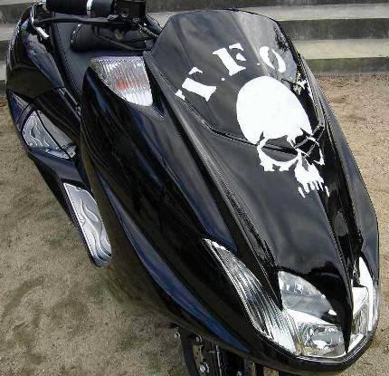 マグザム(MAXAM)05年~ 武装戦線外装キット 黒/マットグレー コタニモータース(KOTANI MOTORS)