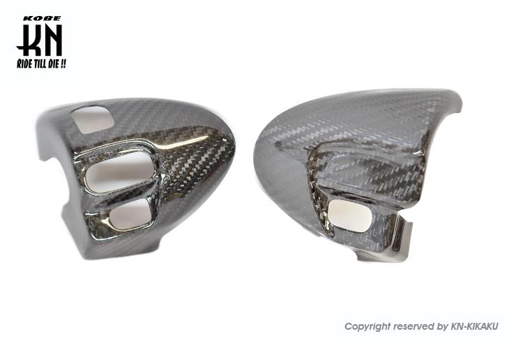 スイッチカバー リアルカーボン KN企画 シグナスX 2型 (28S)国内、 3型 (1YP)国内