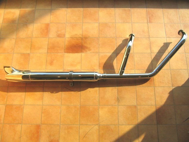 クラシック2in1マフラー(フィッシュ) KENTEC(ケンテック) バルカン1500(VULCAN)