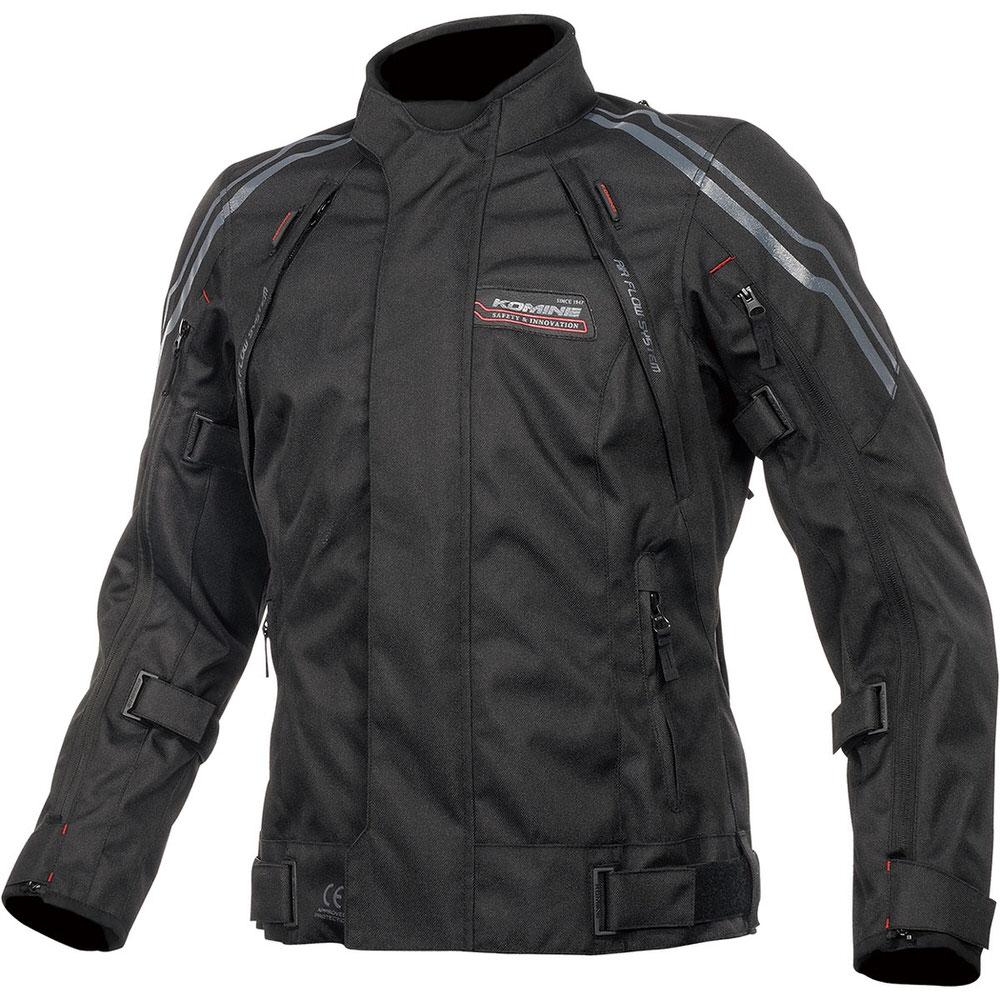 JK-599 フルイヤーシステムジャケット ブラック/レッド 2XLサイズ コミネ(KOMINE)
