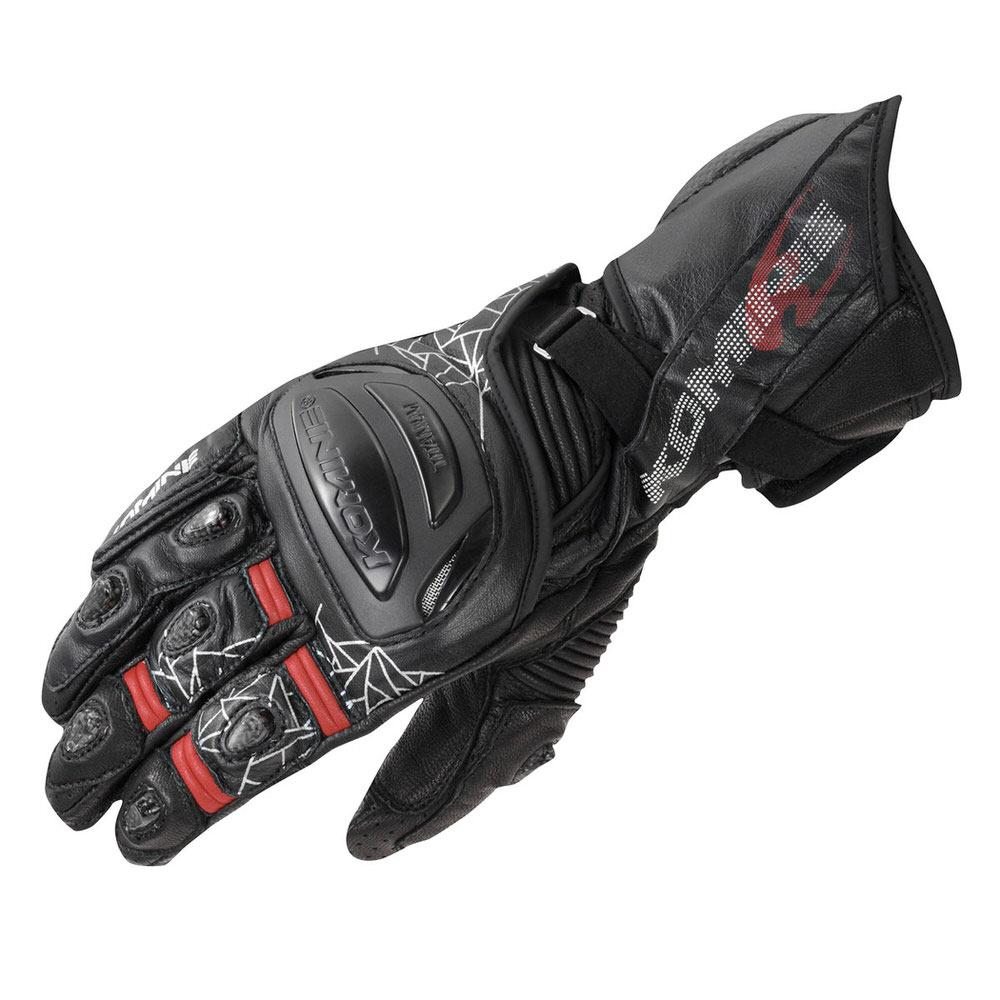 GK-235 チタニウムレーシンググローブ ブラック Sサイズ コミネ(KOMINE)