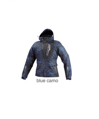 07-589 JK-589 プロテクトウインターパーカー ブルー/カモ WSサイズ コミネ(KOMINE)